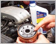 Oil change at Lota Garage Coventry