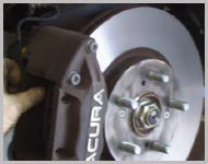 Images of brake pads at Lota Garage Coventry